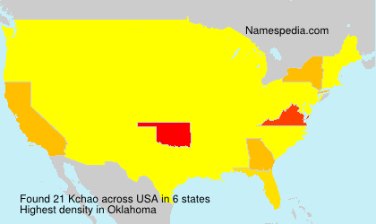 Surname Kchao in USA