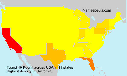 Surname Kcomt in USA