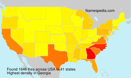 Surname Kea in USA