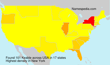 Surname Keable in USA