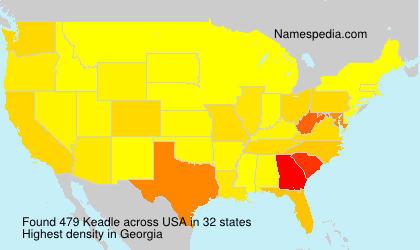 Surname Keadle in USA