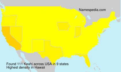 Familiennamen Keahi - USA