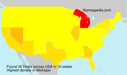 Surname Keahl in USA