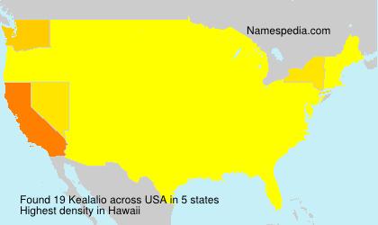 Surname Kealalio in USA