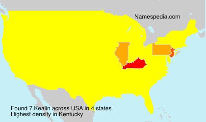 Surname Kealin in USA