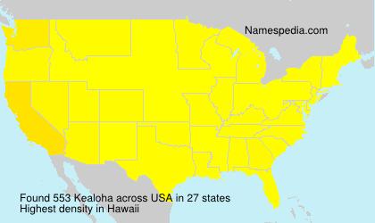 Surname Kealoha in USA