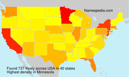 Surname Kealy in USA