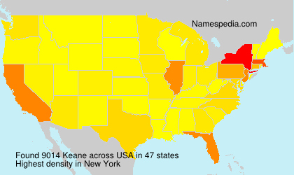Surname Keane in USA