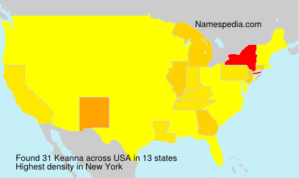 Surname Keanna in USA