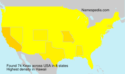 Surname Keao in USA