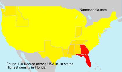 Surname Kearce in USA