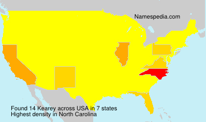 Surname Kearey in USA