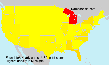 Surname Kearly in USA