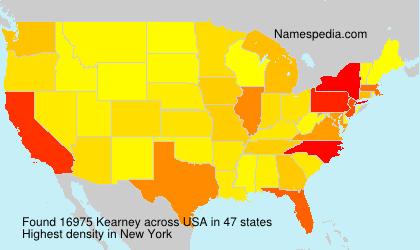Surname Kearney in USA