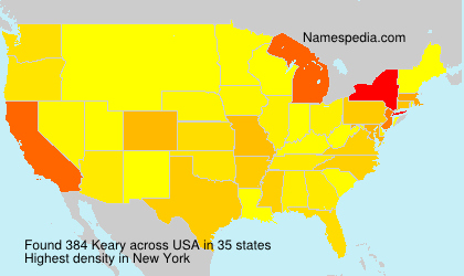 Surname Keary in USA