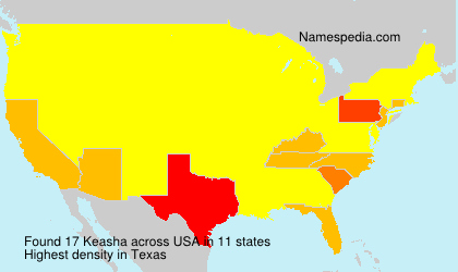 Surname Keasha in USA