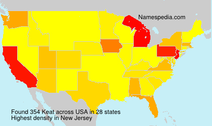 Surname Keat in USA