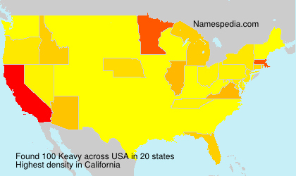 Surname Keavy in USA