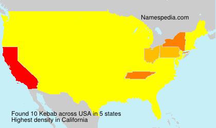 Surname Kebab in USA
