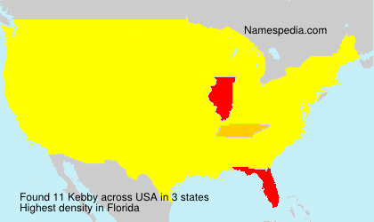 Surname Kebby in USA