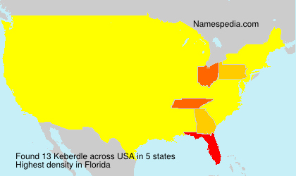 Surname Keberdle in USA