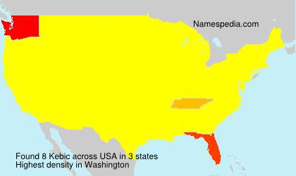 Familiennamen Kebic - USA