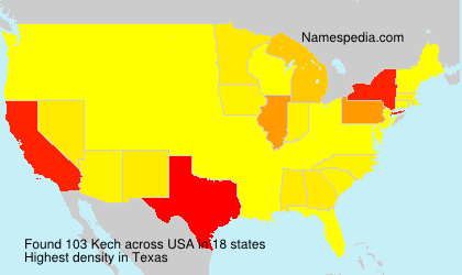 Surname Kech in USA