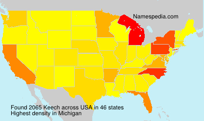 Surname Keech in USA