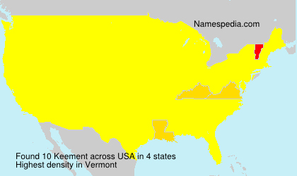 Surname Keement in USA