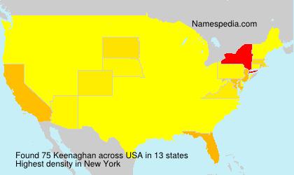 Familiennamen Keenaghan - USA