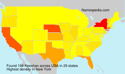 Surname Keeshan in USA