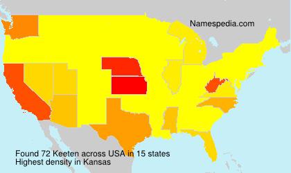Familiennamen Keeten - USA