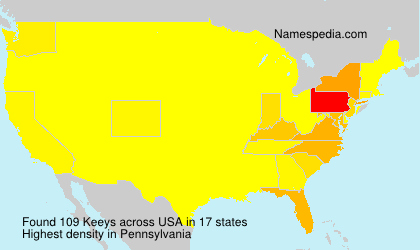 Surname Keeys in USA