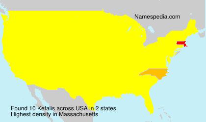 Surname Kefalis in USA