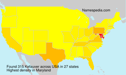 Surname Kefauver in USA
