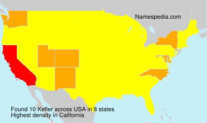 Familiennamen Kefler - USA