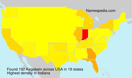 Surname Kegebein in USA