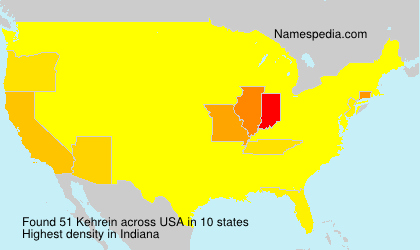 Surname Kehrein in USA