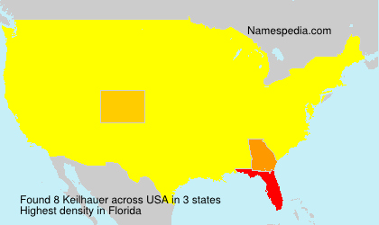 Surname Keilhauer in USA