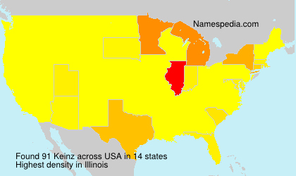 Surname Keinz in USA
