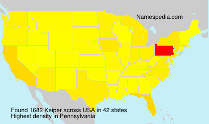 Surname Keiper in USA