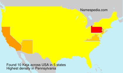Familiennamen Keja - USA