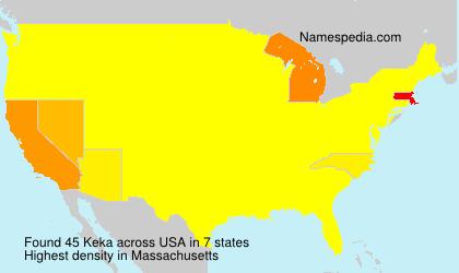 Surname Keka in USA