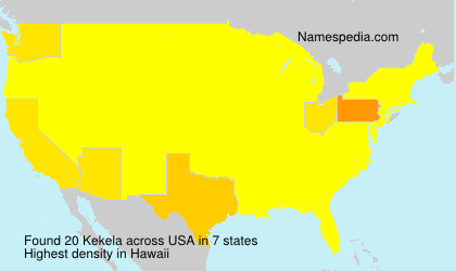 Surname Kekela in USA