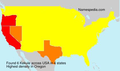 Surname Kekule in USA