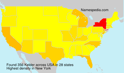 Surname Kelder in USA