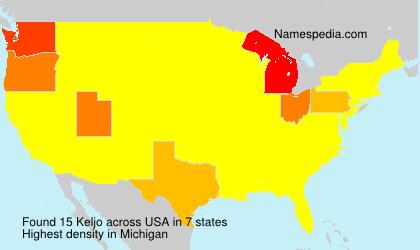 Surname Keljo in USA