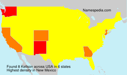 Surname Kellson in USA