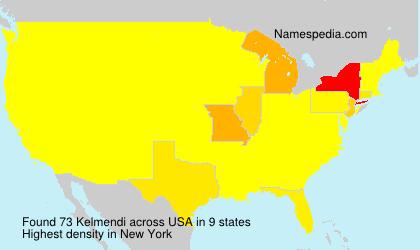 Familiennamen Kelmendi - USA