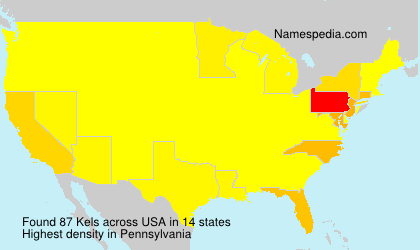 Surname Kels in USA